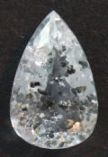 Pale blue Topaz with Chlorite inclusions, faceted, Brazil.   12.59 carats.